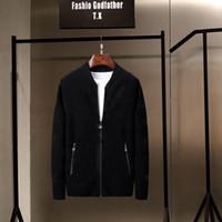 2020 새로운 패션 남성 겨울 자수 스웨터 O 넥 긴 소매 니트 스웨터 수입 - 의류 플러스 사이즈 M-3XL