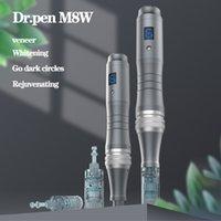 DR PEN ULTIMA M8 con 2 PCS Cartucce wireless Derma Pen Skin Kit per la cura della pelle Microneedle Home Uso Beauty Machine