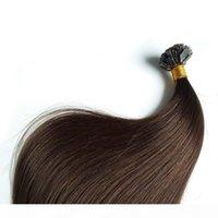 "Gerade Keratinkapseln Human Fusion Hair Nail i Tip Machine Made Remy Pre Bond Haarverlängerung 14 ""-26"" 50g 70g 100g 100s Beutel"