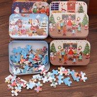 크리스마스 산타 클로스 나무 직소 퍼즐 게임 미니 나무 퍼즐 장난감 어린이 선물 교육 완구 JK2010KD