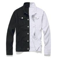 남성의 진 재킷 패널로 패션 디자인 슬림 피트 남성 블루 블랙 레드 캐주얼 데님 재킷 카우보이 코트