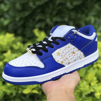 Futura x Dunk World berühmt. Super Star SB Low Designer Skateboard Schuhe Rot Orange Blue Stars Spots Sneakers Trainer