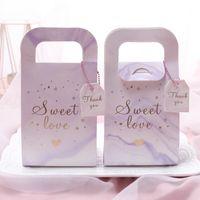 Boîte à bonbons Beaux Boîtes à sucre Marbre Grain Flower Feuille Main Mariage Faveur Favoris Mode 0 45nz UU