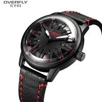 Eyki моды часы мужские кварцевые движения наручные часы черный красный цвет мужчина часы случайные часы мужской relogio Masculino 2020 новый E31081