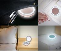 Compact Kosmetikspiegel Handverfassungs-Objektiv-LED USB-Ladeberührungsempfindlichen Schalter Spiegel bewegliche Falte Intelligenz Leicht 32xy M2