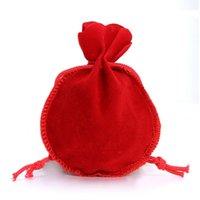 Mini Sacs à main à cordon de serrage Pure Couleur Velvet Bijoux Cadeaux Cadeaux Poches Poches Sacs d'emballage de mariage Vente chaude 0 45dy E1