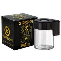 Gordon LED Light Tabacco Contenitore Ricaricabile Caso di medicina ricaricabile Bottiglie di vetro DAB cera 155ml Storage Herb Herb Rolling Sigaretta Sigaretta Glow Cans