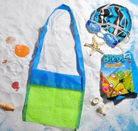 Wholesale- Applied Enduring Children Sand Away Beach Mesh Bag Children Beach Toys Clothes Towel Bag Baby Toy Collection Nappy Folding bbyZx