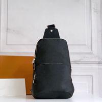 Compacto Sporty Smart Strap Lateral Carregar Homens Bag Peito Corpo Forma Forma Segura Dupla Zip Masculino Clássico Bolsa De Ombro