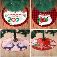 Nueva falda de Navidad Árbol genealógico de de 4 con la mascarilla de arpillera Decoración de la Navidad de la mano Sanitized Inicio Decoración de Navidad HH9-3563