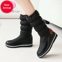 2021 Yeni Boyutu 3544 Kadın Aşağı Kar Çizmeler Ile Düz Nakış Sıcak Kış kadın Cilt Ayakkabı IFKM