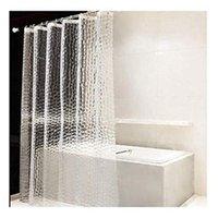 ستائر دش واضحة إيفا ستارة بطانة ماء شفاف 3D المياه مربع الحمام في 71 بوصة × 79 بوصة، 12 hooks1