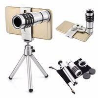 Guangzhou Juropin pour 2021 Produits de tendance 12x Télescope optique Téléphoto mobile Zoom Lens avec trépied Kits