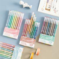 9 قطعة / المجموعة morandi هلام القلم متعدد الألوان هلام حبر الأقلام خمر 0.5 ملليمتر رسم رسم القلم القرطاسية هدية للأطفال اللوازم المكتبية