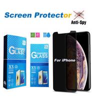 Privatsphäre gehärtetes Glas für iPhone 13 12 11 PRO MAX MINI X XR XS MAX 8 7 6 6S PLUS-Displayschutzfolie für Samsung S7 J7