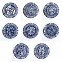 Cerâmica absorvente coaster casa tapete de jantar espessado anti-escalde mesa de jantar redonda coaster criativo copo criativo tapete vt1943