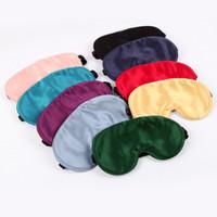 Máscara de olho de seda de seda dupla para homens e mulheres respirável sombreamento de seda olho de sono artefato