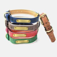 Wholesale accesorios para perros diseñador collares personalizados para mascotas correa y collar de cuero