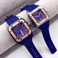 As mulheres dos homens do amante da forma do relógio de ouro de quartzo Praça relógios Roma Números relógios de pulso para senhoras dos homens dos Namorados presente orologio di Lusso