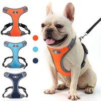 Pet Dog Arreios Noite Reflective Segurança colete arnês pet com anel D Dog Vest Cães Suprimentos vontade e areia nova