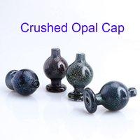 Nova 26 milímetros OD Esmagado bolha Opal Cap Heady vidro Carb Cap direcional bolha Dab Caps Para Quartz Banger Unhas de vidro Bongos Dab Rigs