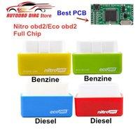 디젤 벤진 자동차 니트로 벤시 튜닝 도구를위한 코드 독자 스캔 도구 ECOOBD2 풀 칩 튜닝 박스 원래 더블 보드 NITRO OBD2 에코 플러그 드라이브 Inte