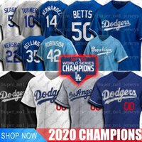 Dodgers Mookie Betts Jersey Los Cody Bellinger Angeles Enrique Hernandez Jerseys Corey Seager Clayton Kershaw Jackie Robinson Turner Jerseys