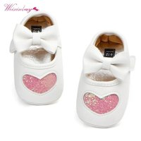 Premiers Walkers WeIxinbuy Spring Automne Butterfly Knot Sole Soft Girl Baby Chaussures Coton 0-18m