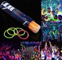 """Glow Sticks Bevical Party Party Partys - Свечение в темновой веселой партии Пакет с 8 """"светильниками и разъемами для браслета jlliqs yummy_shop"""