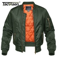 TACVASEN Winter Military Jacket Outwear Men Cotton Padded Pi...