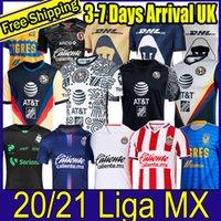 20 21 Club America Cruz Azul Soccer Jersey 2020 Guadalajara Chivas Tijuana Unam Tigres à la maison Troisième Liga MX Football Shirts Santos Laguna