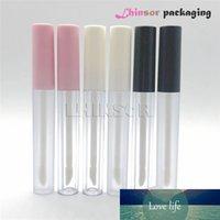 20 шт. / Лот 2.5 мл черно-белая розовая крышка пластиковая пустая помада губ глянцевая трубка косметические контейнеры макияж упаковка