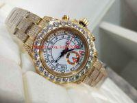 Excelente relógio superior 44mm 116680 116688 116689 Bracelete de diamante diamante completo sem cronógrafo Ásia 2813 movimento Mens automático relógios