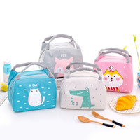 Modycon desenhos animados saco de almoço bonito para as mulheres menina crianças crianças isoladas térmicas lancheira tote alimento saco de piquenique bolsa de mola de leite C0125