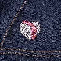 10 PCS 베스트 리브 옷깃 핀 배지 액세서리 브로치 닥터 의료 선물 파티 유행 보석 여성 꽃 에나멜 헤어 핀 201009