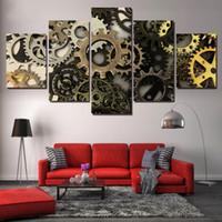 Tela moderna pittura HD Stampato Wall Art Foto 5 pezzi astratti Metal Gear Parte poster Living Room decorazione della casa