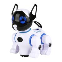 جديد الأطفال التعليمية rc روبوت الكلب التحكم عن العالمي الحيوانات الالكترونية الحيوانات المشي الموسيقى الرقص الاطفال الكلب لعبة هدية LJ201105