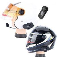 Tragbare Motorrad Helm Headsets Bluetooth Motorcross Helme Interphone Walkie Talkie mit LED FM Radio für alle Helm1