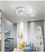 Creative Modern Led Ceiling Lights For Living Room Bedroom Wedding Room Children White Color 110V 220V Ceiling Lamp Fixtures RW457
