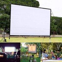 Écran de projecteur de 150 pouces pliable portable HD 4: 3 Blanc Dacron Vidéo Screen Screen Screen Wall Monté pour Maison Théâtre Movie1