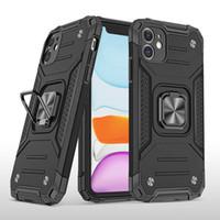 iPhone 12 Samsung Galaxy S20 Moto tarihinde LG için 11 Mini Pro MAX halka tutucu manyetik Zırh hücre kabuk için darbeye dayanıklı Telefon Kılıfı