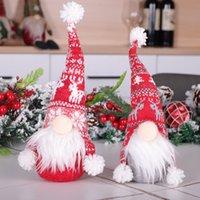 Войлок рождественские куклы кулон Eyeless Пожилым рождественские украшения Вязаная Рождество Hat партия украшения DHL Dropshipping F7601