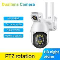 كاميرات 1080P PTZ IP كاميرا Duallen Wifi Speed Dome الأمن اللاسلكي عموم الميل 4x التكبير الرقمي 2MP شبكة CCTV Surveillance1