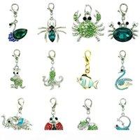 12 piezas Lote mezcla estilo encanto flotante con cierre de langosta encantos a granel bricolaje para joyería haciendo accesorios