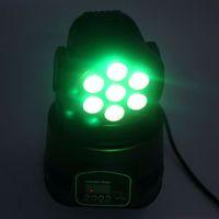 Nieuwste ontwerp 80W 7-RGBW LED Moving Head Light Auto / Voice Control DMX512 Mini Stage Lamp (AC 110-240V) Zwarte Lighting van hoge kwaliteit