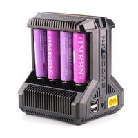 2021 정통 NITECORE I2 I4 I8 D2 D4 Universal Intellicharger 디스플레이 충전기 18650 18350 18500 14500 Li-on Battery 100 % Original
