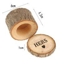 Holz Ringkasten DIY Personalisierte Ehering Kiste 1 Paar Seine ihr HERS MR MRS Gravured Ring Box EEF3946