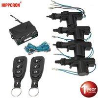 Hippcron Fechadura de carro Controle Remoto Keyless Sistema de Entrada Kit de bloqueio com 4 portas atuador de bloqueio universal 12v1