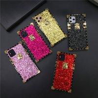 Luxe Bling Couverture carrée Glitter Case pour Huawei P30 Lite P20 Pro P40 PRO Maté 30 Pro Nova 5 6 7 SE 3i Honor 30 20 V30 10 8X