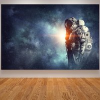 Mars Spacecraft Astronaut Satellite Canvas Oil Painting Moon...